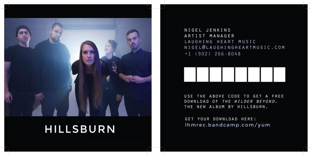 Digital download promo card